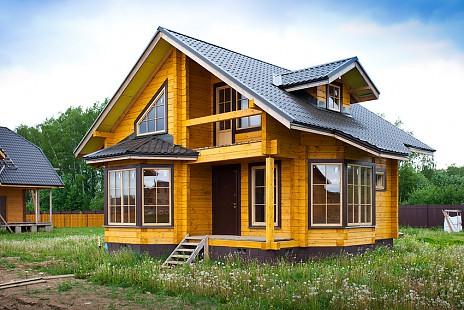 Готовые проекты домов из бруса цены фото