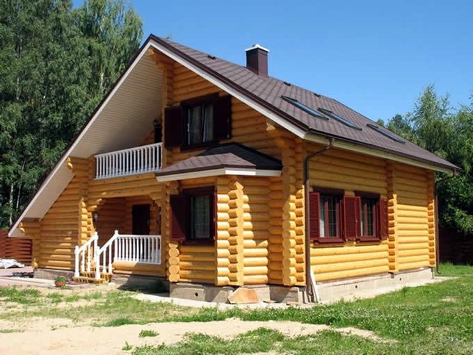 Строительство дома с баней из бревна | Производство Краус | kraust.ru