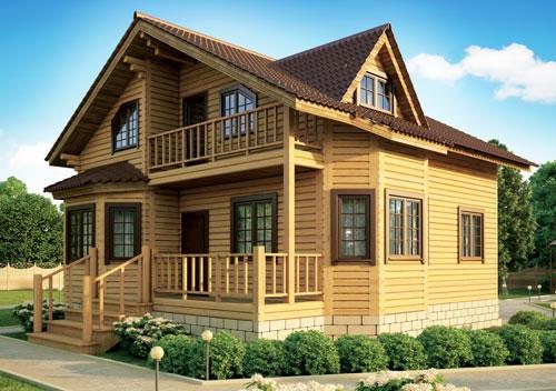 Купить готовый проект дома из бруса фото