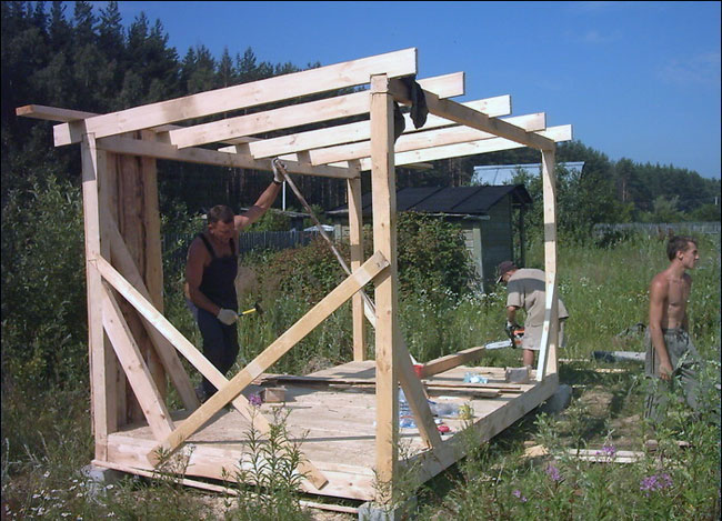 Пошаговое строительство бытовки своими руками