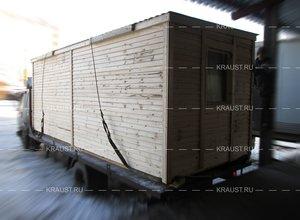 Перевозка строительных бытовок фото