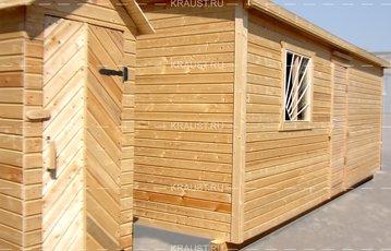 Деревянная бытовка дачная Б-01 и деревянный туалет