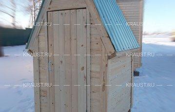 Модульный деревянный туалет г.Зеленый фото