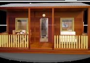 Дома из вагончиков с верандами фото