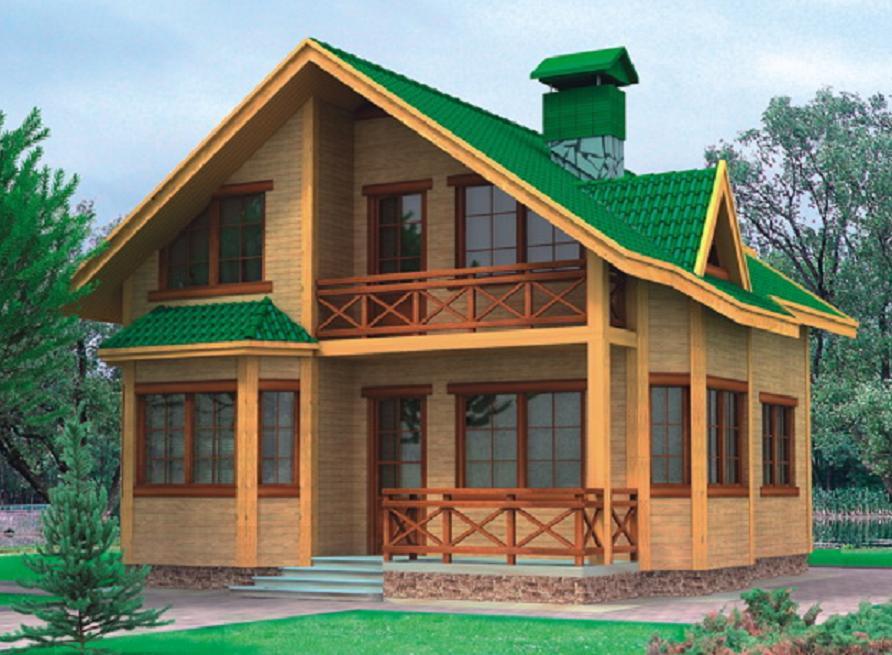 Двухэтажные брусовые дома фото