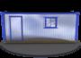 Металлическая бытовка Бж-01 ДВП Внешний вид изображение